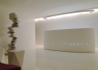16 - Ellipse reception and pend. lamp corian