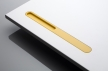 32LINIE3yellow lacquered surface - furniture handles corian