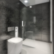 66_BUILT IN toilet, BUILT IN shower_black_des. V. Ambroz_Corian®