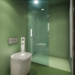 72_BUILT IN toilet, BUILT IN shower_sea-green_des. V. Ambroz_Corian®