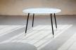 03AMOSDESIGN - table L-corian, metal design by Adam Turecek