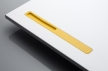 10AMOSDESIGN - LINIE 2 yellow corian - laquered surface design by Vladimir Ambroz